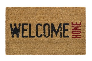 Hamat Ruco print natural heart 147 301 welcome home 45x75