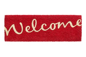 Hamat Ruco print welcome 147 720 red 26x75